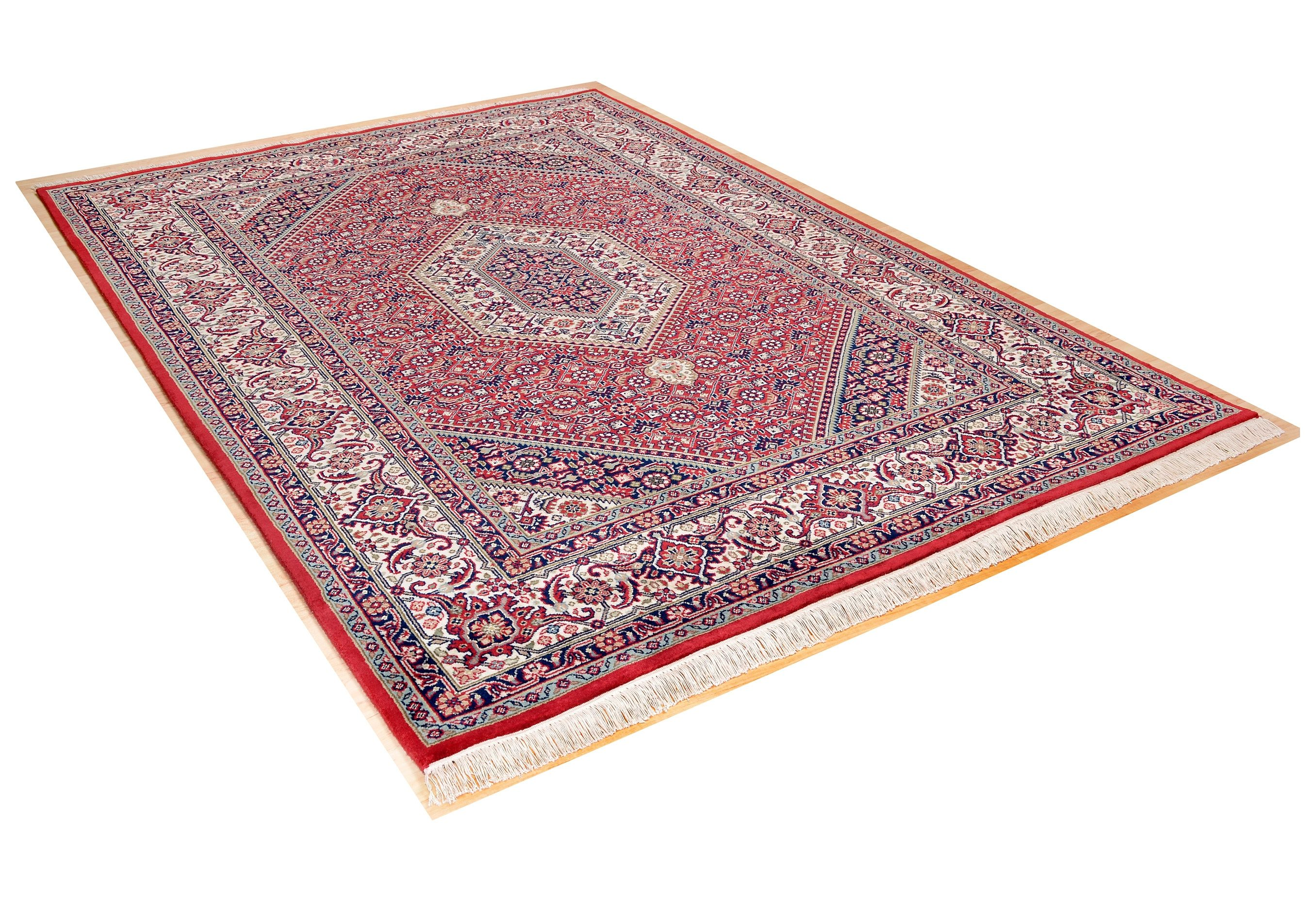 Orientteppich Meraj Silk Touch Bidjar THEKO rechteckig Höhe 12 mm manuell geknüpft