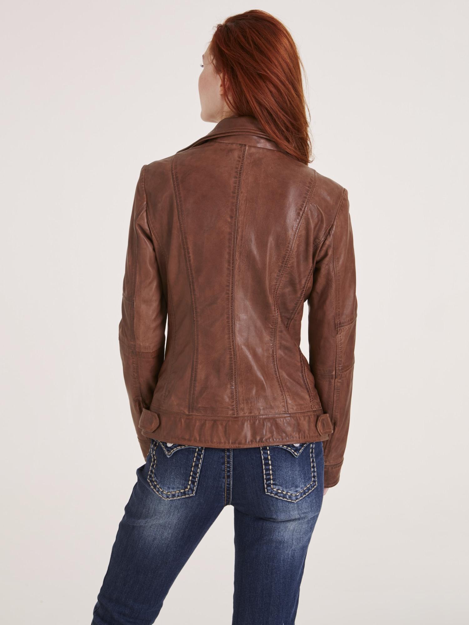 heine CASUAL Lederjacke mit aufgesetzten Taschen | Bekleidung > Jacken > Lederjacken & Kunstlederjacken | Grün | Polyester | Heine Casual