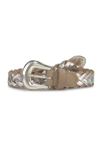 TOM TAILOR Denim Ledergürtel »Geflochtener Ledergürtel mit Metallic - Färbung« kaufen