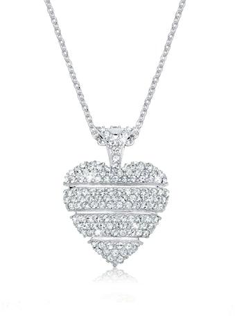 Elli Collierkettchen »Herz Liebe Swarovski® Kristalle Lovely 925 Silber« kaufen