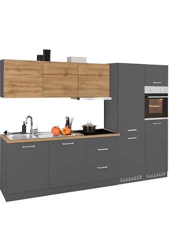 HELD MÖBEL Küchenzeile »Kehl«, mit E-Geräten, Breite 300 cm, wahlweise mit Induktionskochfeld kaufen