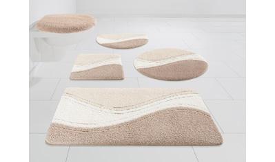 DELAVITA Badematte »Wellen«, Höhe 15 mm, strapazierfähig, Hoch-tief-Effekt kaufen