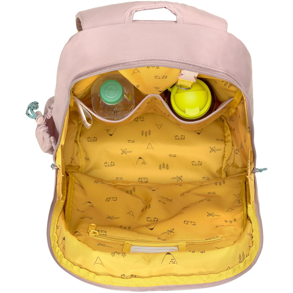 LÄSSIG Kinderrucksack »Adventure, Tipi, Big Backpack«, Floureszierende Flächen, PETA-approved vegan