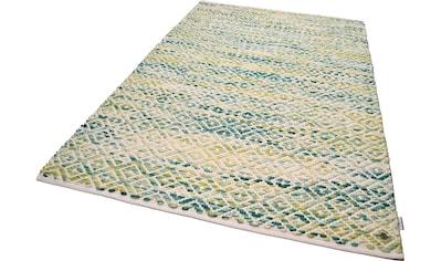 TOM TAILOR Wollteppich »Diamond«, rechteckig, 8 mm Höhe, reine Wolle, Flachgewebe, handgeknüpft, Wohnzimmer kaufen