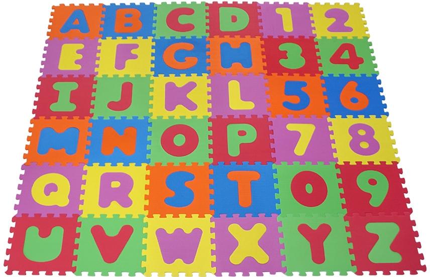 Knorrtoys Puzzle Alphabet und Zahlen, Puzzlematte, Bodenpuzzle bunt Kinder Ab Geburt Altersempfehlung