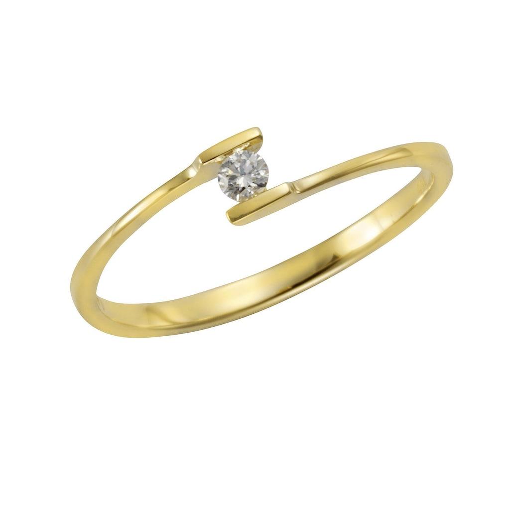 Orolino Fingerring »585/- Gelbgold Brillant«