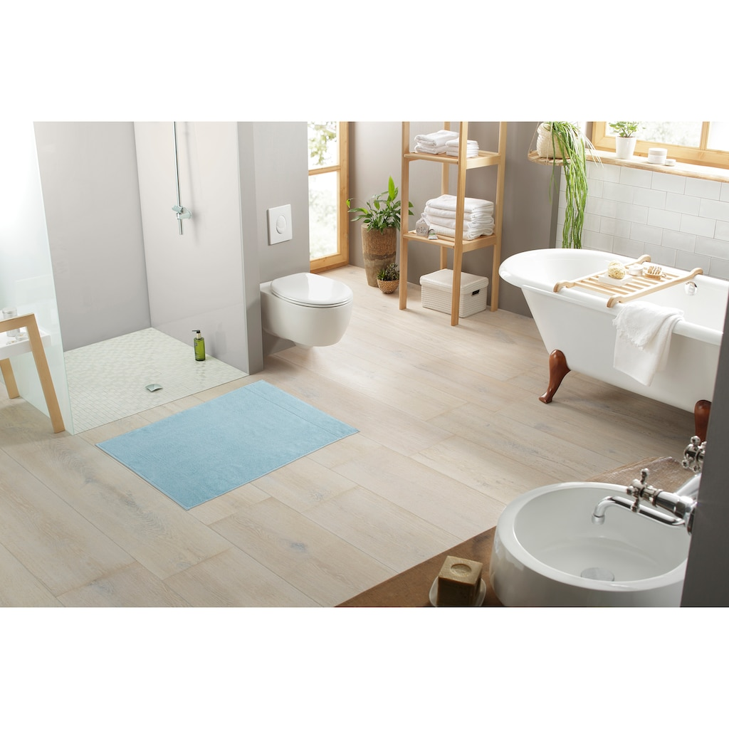 my home Badematte »Inga«, Höhe 4 mm, beidseitig nutzbar, 2-er Set