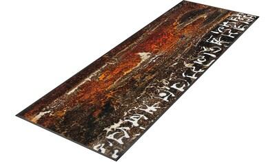 Läufer, »Das Leben Wurzeln«, wash+dry by Kleen - Tex, rechteckig, Höhe 7 mm, gedruckt kaufen