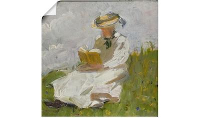 Artland Wandbild »Lesende Frau im Grünen. 1906« kaufen