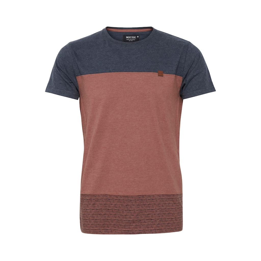Indicode T-Shirt »Remmond«, T-Shirt im Colorblock-Look