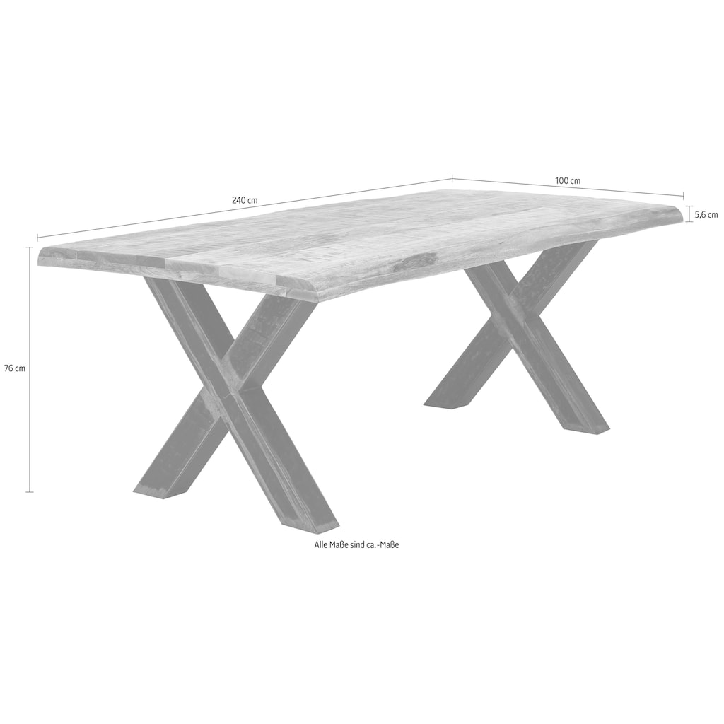 SIT Esstisch »Tops&Tables«, mit Platte aus Mangoholz, Shabby Chic, Vintage