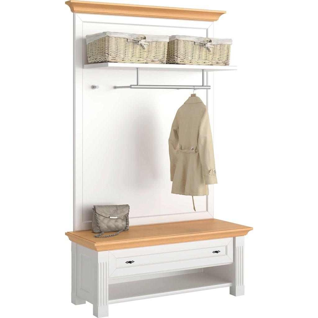 WEHRSDORFER Garderobe »Maisonette«, mit Sitzbank und Schublade, Breite 225 cm
