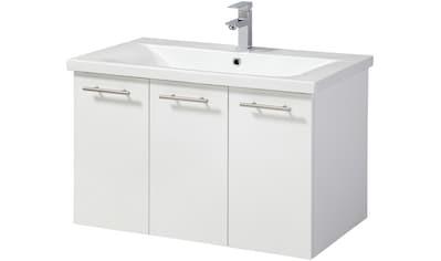 WELLTIME Waschplatz - Set »Lugo«, Premium Waschtisch, Breite 80 cm, 2 - tlg., 3 Türen kaufen