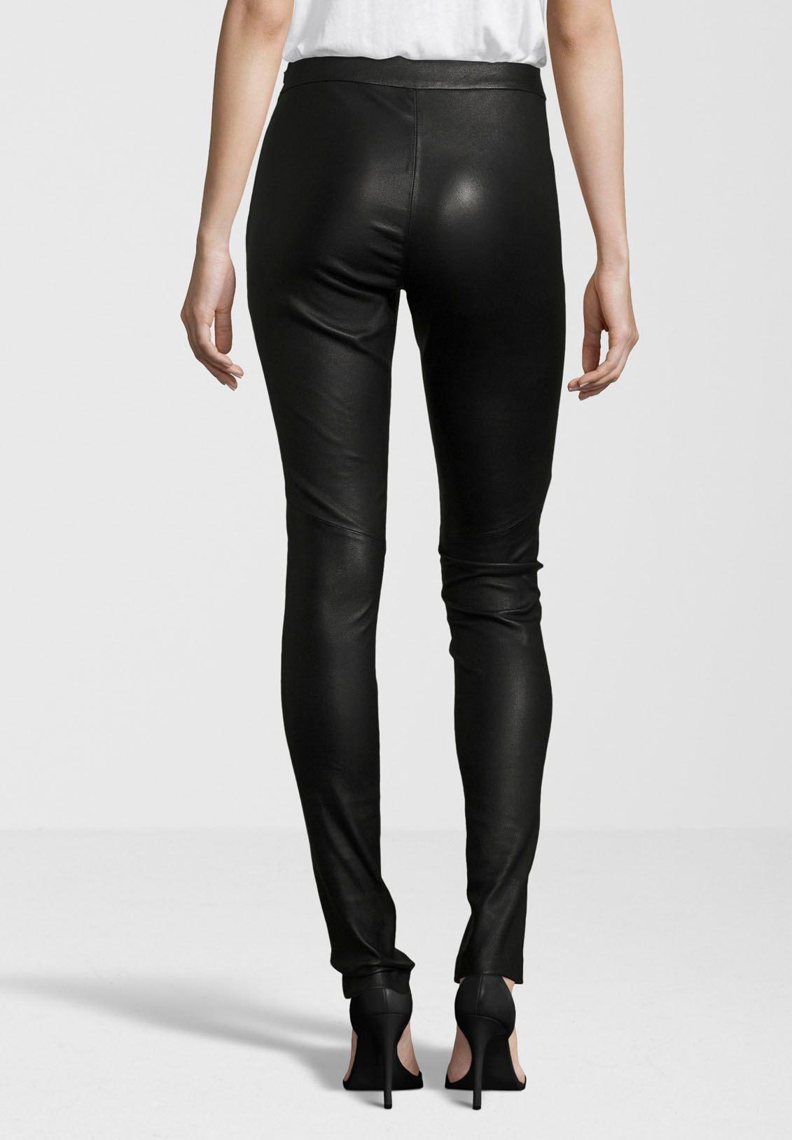 gipsy -  Lederhose Alara, hochwertige Leder-Leggings mit seitlichem Reißverschluss am Bund