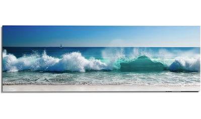 Reinders! Wandbild »Wandbild Stürmische Wellen Meer - Strandbilder - Wasser«, Meer, (1 St.) kaufen