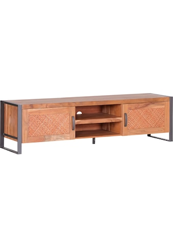 Gutmann Factory Lowboard »Alvara«, mit Rattan Geflecht oder Massivholz Front wechselbar kaufen