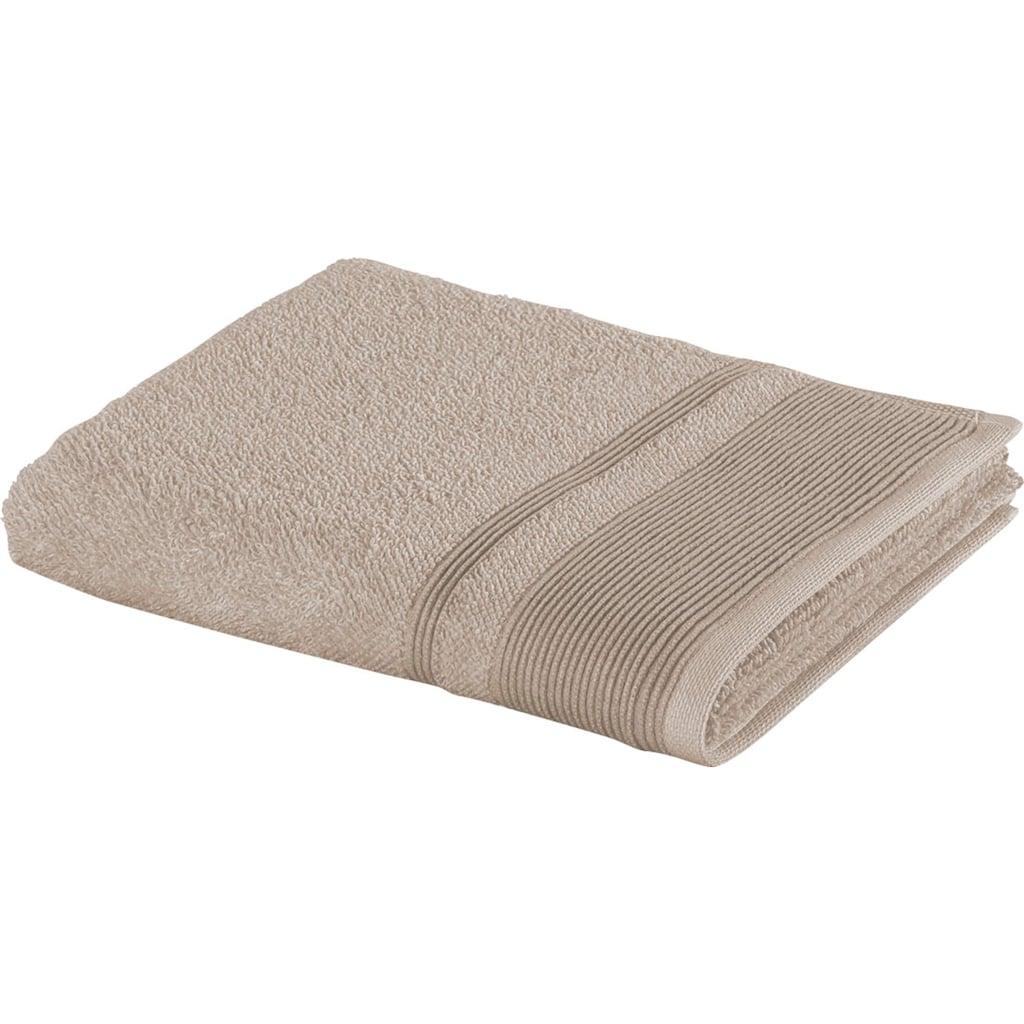 Möve Badetücher »Wellbeing«, (1 St.), aus Bio-Baumwolle und Leinen
