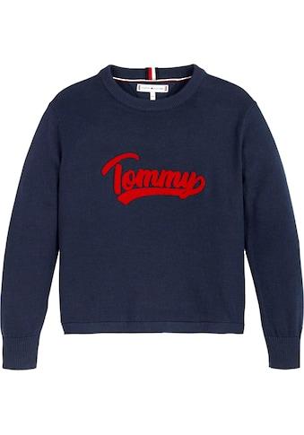 TOMMY HILFIGER Strickpullover »VARSITY LOGO« kaufen