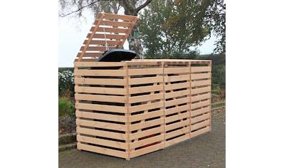 promadino Mülltonnenbox »Vario V«, für 3 x 240 l, holzfarben kaufen