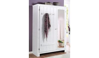 Home affaire Garderobenschrank »Bertram«, aus schönem massivem Kiefernholz, mit einer Spiegeltür, Höhe 170 cm kaufen