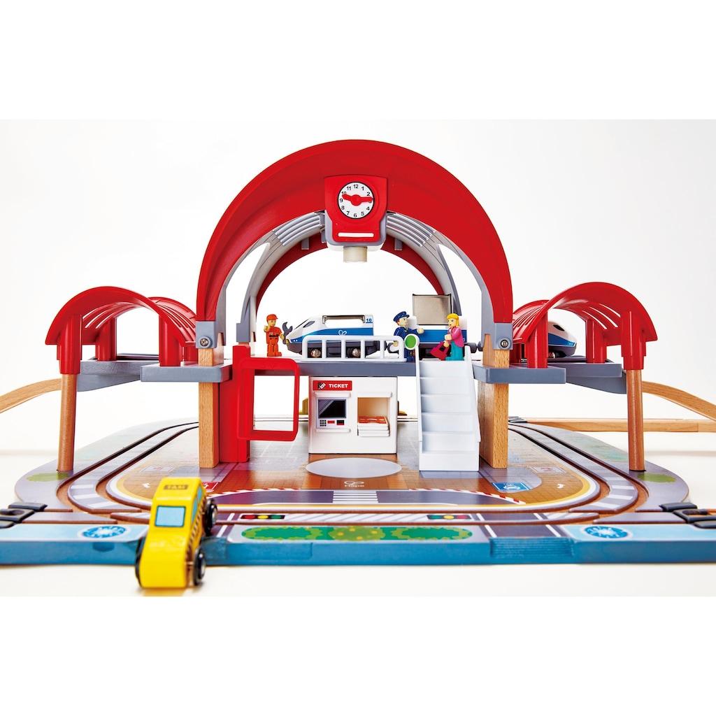 Hape Spielzeugeisenbahn-Gebäude »Großstadtbahnhof mit Licht und Sound«