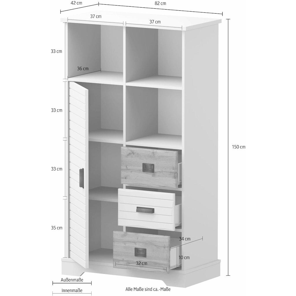 Home affaire Highboard »Arabell«, 1-türig, 82cm breit