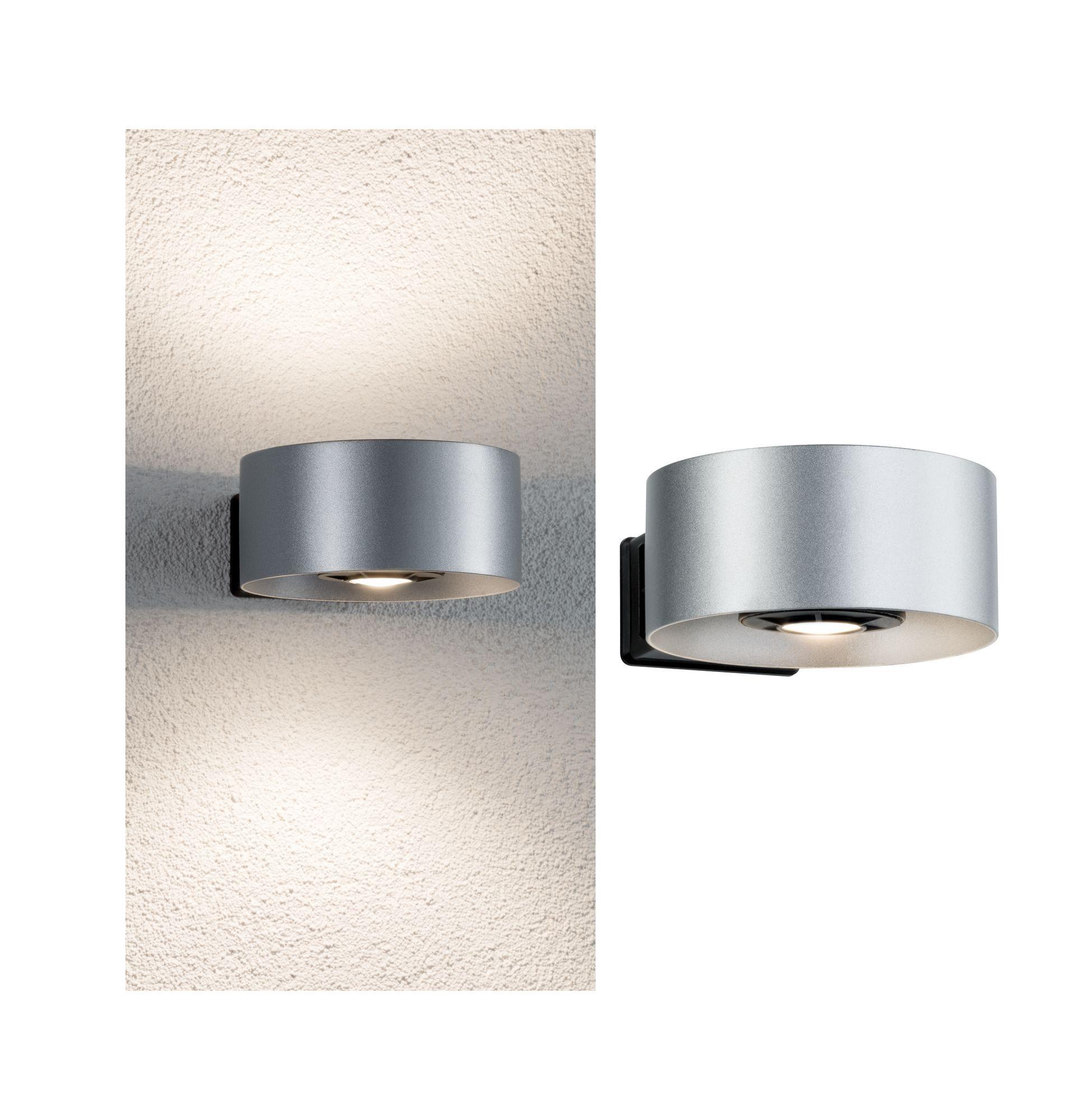 Paulmann LED Außen-Wandleuchte Cone Silber/Anthrazit 2x6W, 1 St., Warmweiß