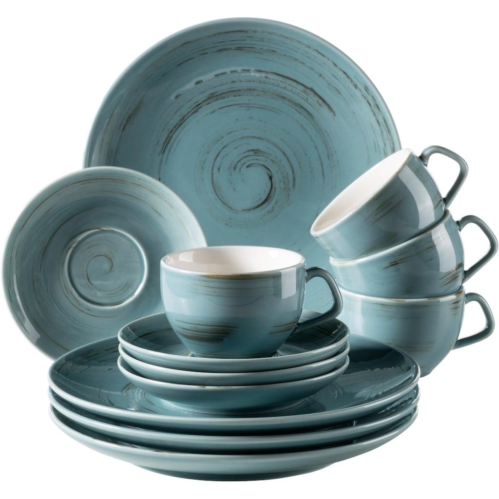 Home affaire Kaffeeservice »Arnust«, (12 tlg.), Porzellan