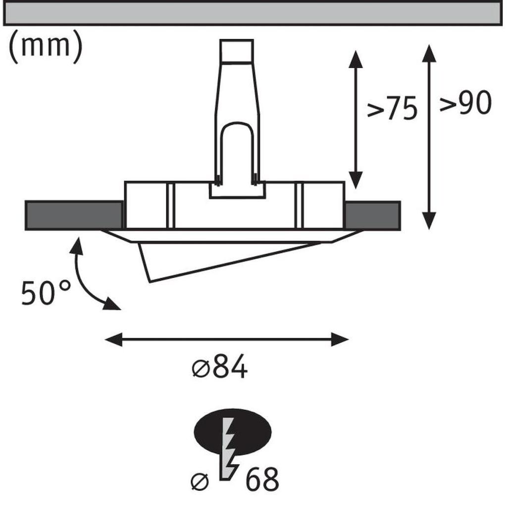 Paulmann LED Einbaustrahler »Nova rund 1x6,5W GU10 Eisen gebürstet schwenkbar«, GU10