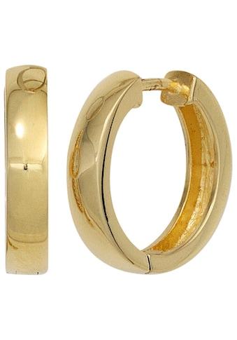 JOBO Paar Creolen, 925 Silber vergoldet kaufen