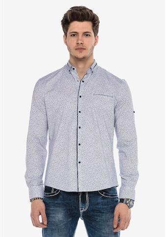 Cipo & Baxx Langarmhemd, mit dezentem Allover-Print kaufen