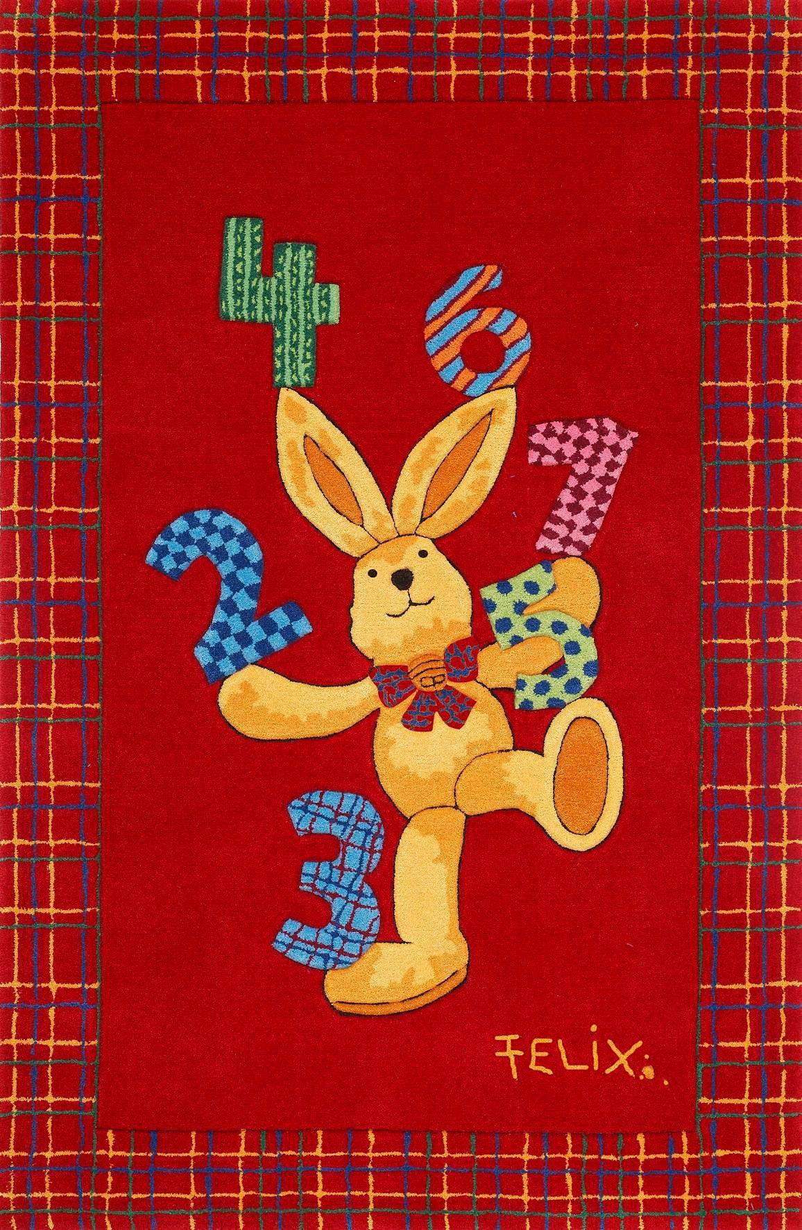 Teppich Felix der Hase FE-2194-01 Felix der Hase rechteckig Höhe 10 mm handgetuftet