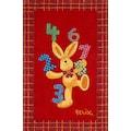 Felix der Hase Kinderteppich »Felix der Hase FE-2194-01«, rechteckig, 10 mm Höhe, Konturenschnitt, brillante Farben