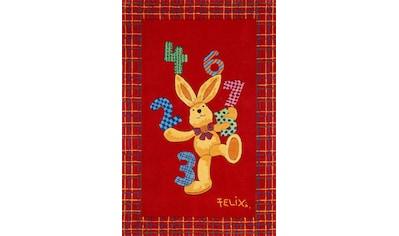 Felix der Hase Kinderteppich »Felix der Hase FE-2194-01«, rechteckig, 10 mm Höhe, Konturenschnitt, brillante Farben kaufen