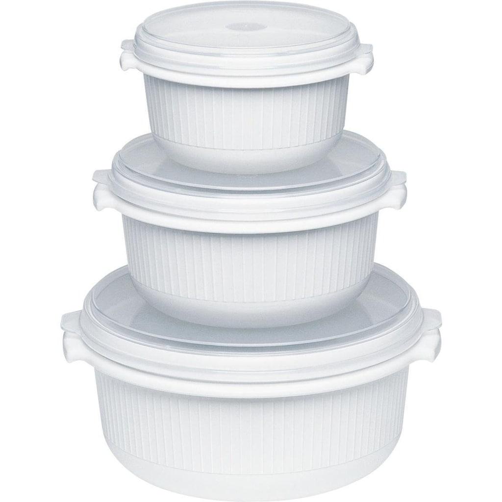 Emsa Mikrowellenbehälter »Micor Family«, (Set, 3 tlg.), 0,5, 1,0, 1,5 Liter