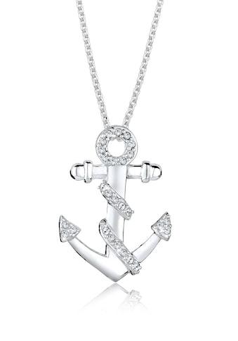 Elli Collierkettchen »Anker Meer Swarovski® Kristalle 925 Silber« kaufen