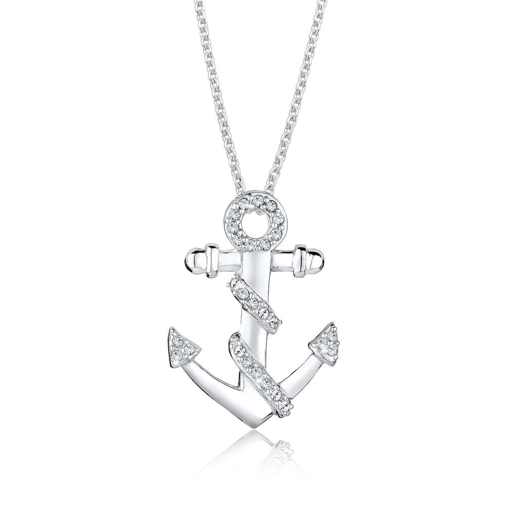 Elli Collierkettchen »Anker Meer Swarovski® Kristalle 925 Silber«