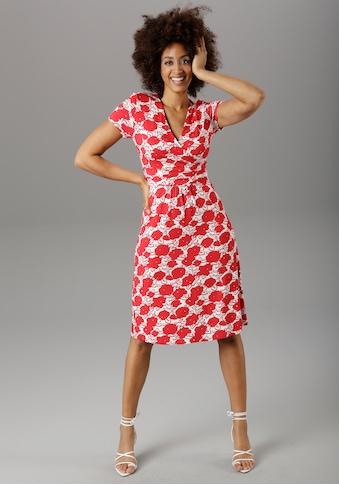 Aniston SELECTED Sommerkleid, mit gewickeltem Ausschnitt kaufen