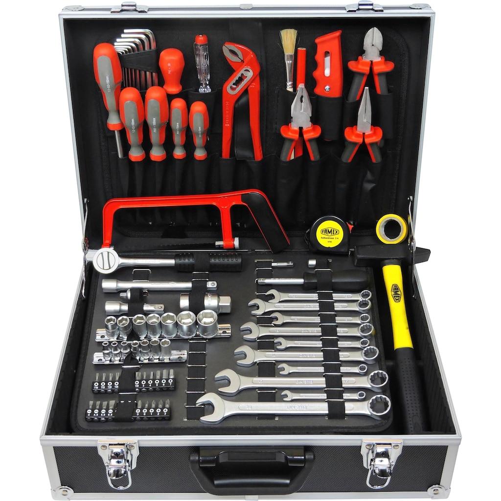 FAMEX Werkzeugset »759-63«, (125 St.), Werkzeugkoffer mit Werkzeug