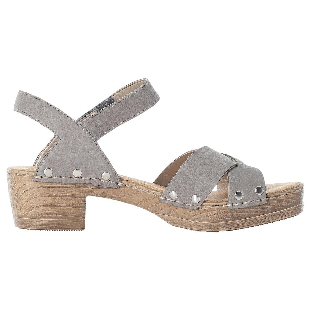 Rieker Sandalette, mit Nietenverzierung