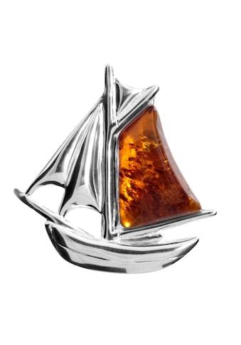 OSTSEE - SCHMUCK Brosche »Schiff Silber 925/000 Bernstein« kaufen