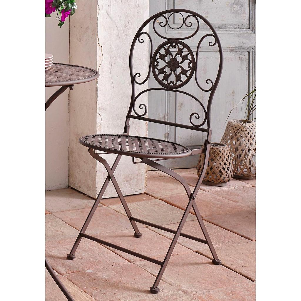 locker Klappstuhl, aus Metall