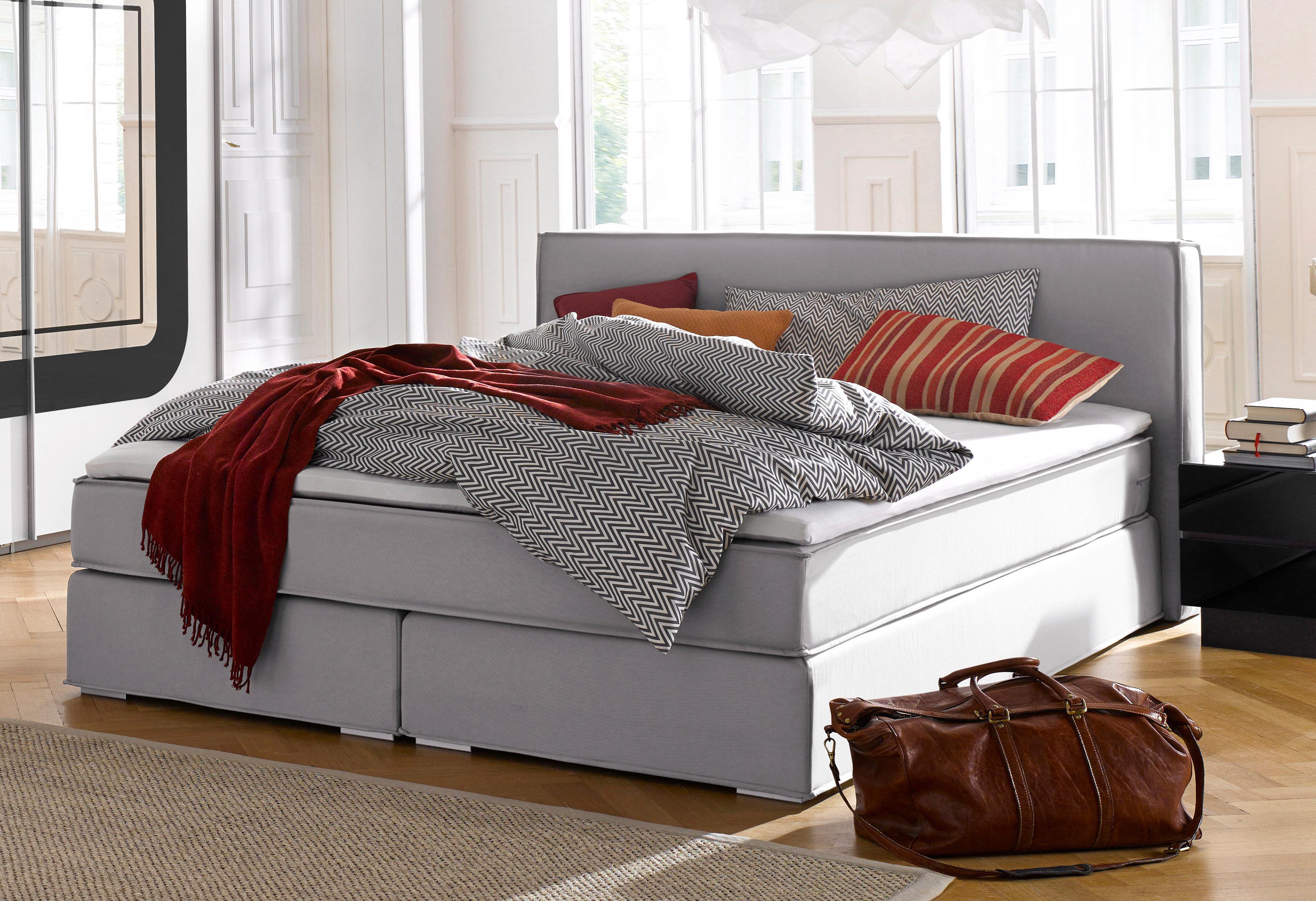Atlantic Home Collection Boxspringbett   Schlafzimmer > Betten > Boxspringbetten   Holz - Strukturstoff - Polyester - Federn   ATLANTIC HOME COLLECTION