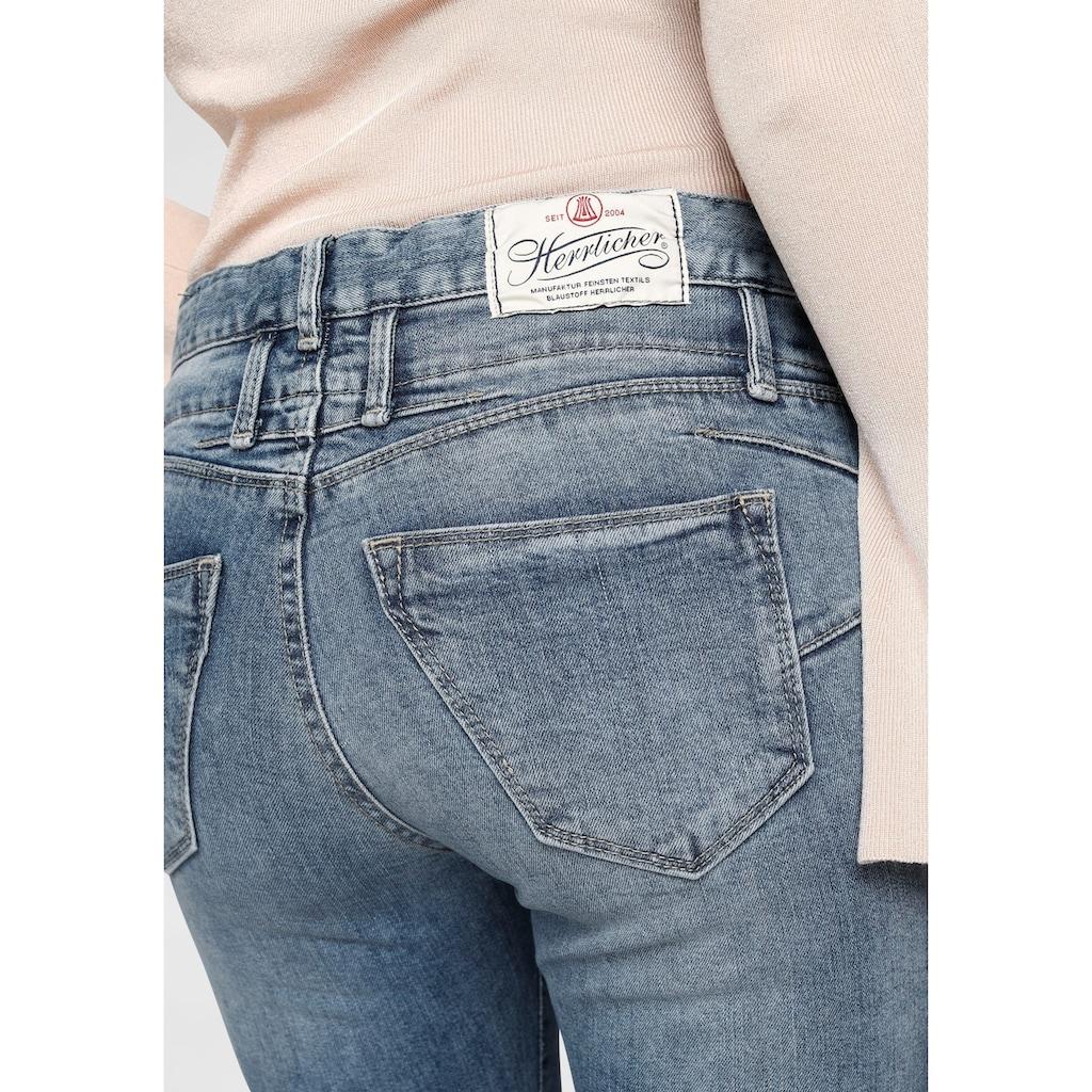 Herrlicher 7/8-Jeans »BABY CROPPED«, mit doppeltem Cut-off Saum