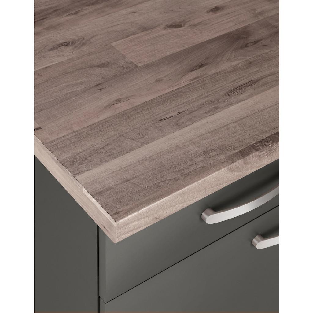 wiho Küchen Küchenzeile »Kansas«, mit E-Geräten, Breite 280 cm