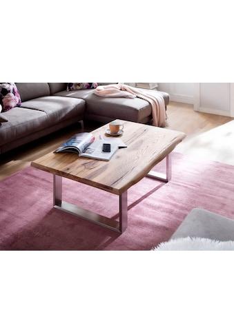 MCA furniture Couchtisch, Couchtisch Massivholz mit Baumkante kaufen