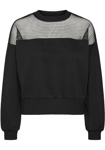 Vero Moda Sweatshirt »VMVENUS L/S NETTET SWEAT« kaufen