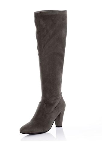 Alba Moda Stiefel aus elastischem Microsuede kaufen