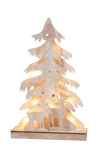 HGD Holz - Glas - Design 3D - Weihnachtsbaum mit Rehen Country Style kaufen