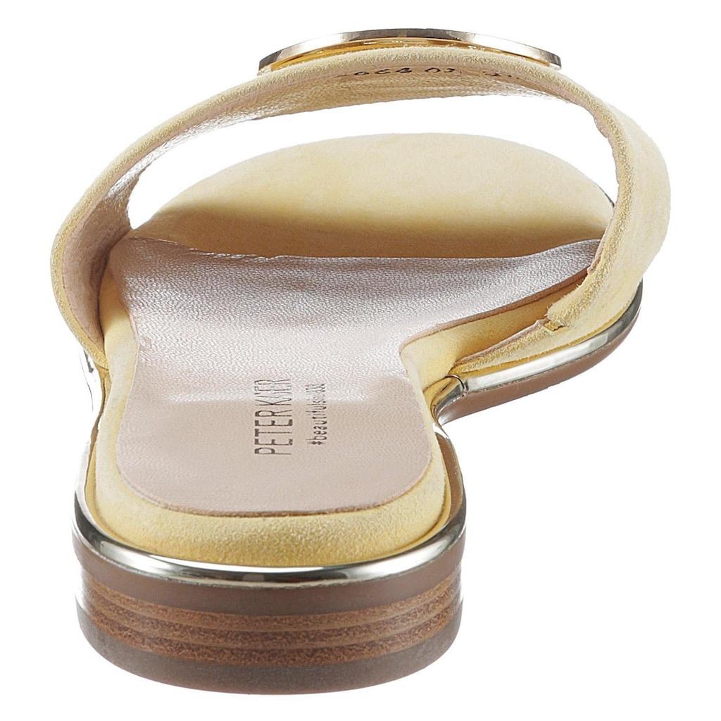 Peter Kaiser Pantolette »RIVA«, mit auffälligem Schmuckelement